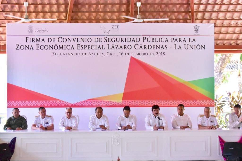 Concretan Guerrero y Michoacán convenio de seguridad pública para Zona Económica Especial