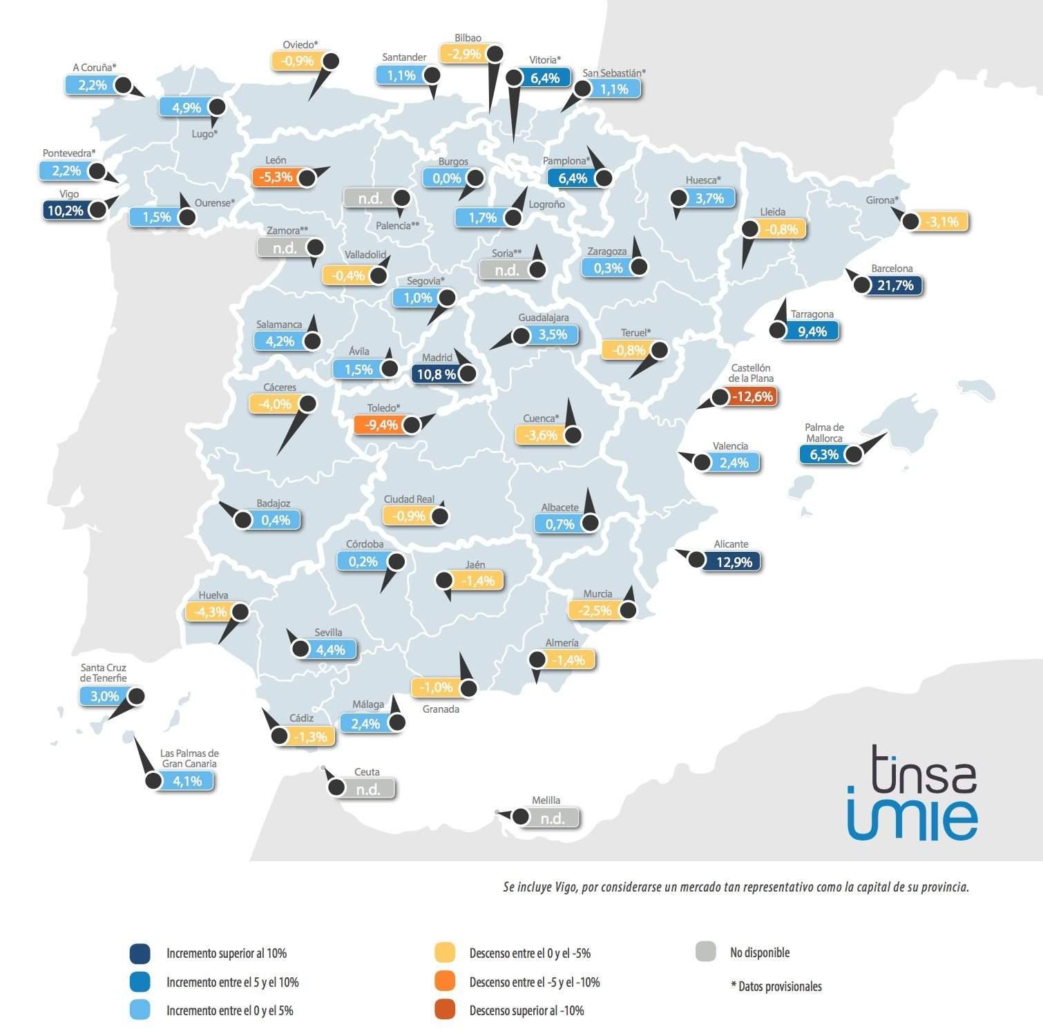 Impuesto sobre la propiedad en España en 2016