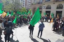 OSTA protesta contra la elevada siniestralidad laboral en Aragón