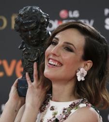 Natalia de Molina desvela el grito que le vetaron en los Goya: ¡Techo, comida y dignidad para todos!