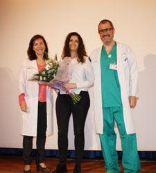 La enfermera Eva Resa Herrada, ganadora del Primer Premio de Investigación en las Jornadas del CHT