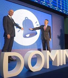 Gran remontada de Dominion en su segundo día en bolsa, sube un 9,69%