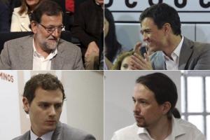 Rajoy, Sánchez, Iglesias y Rivera debatirán en televisión el lunes 13