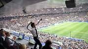 Una fotografía viral y filmada por Putin: la euforia de Macron en la final del Mundial