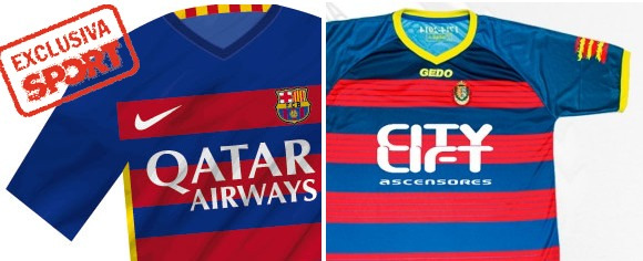 Nike presionó al Llagostera para cambiar su camiseta por ser como la del Barcelona