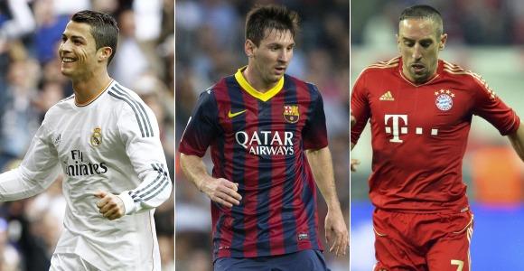 FIFA confirma a Cristiano Ronaldo, Messi y Ribèry como finalistas ...