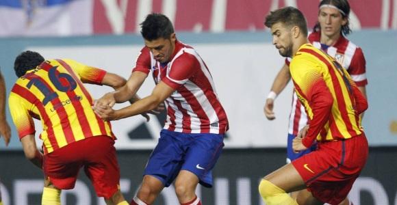 Encuentro de la Supercopa del Atlético de Madrid y el FC Barcelona.