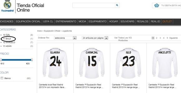 El Madrid ya vende la camiseta de Gareth Bale en su tienda oficial 277ce48265083