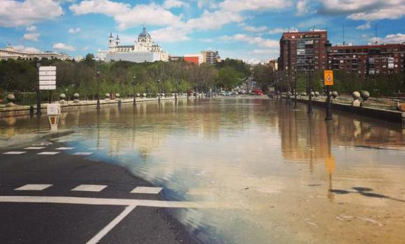 Inundado el centro de Madrid