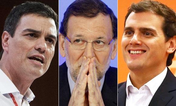 PP, Ciudadanos y PSOE llegan empatados en intenci�n de voto a tres semanas del 20D, seg�n un sondeo