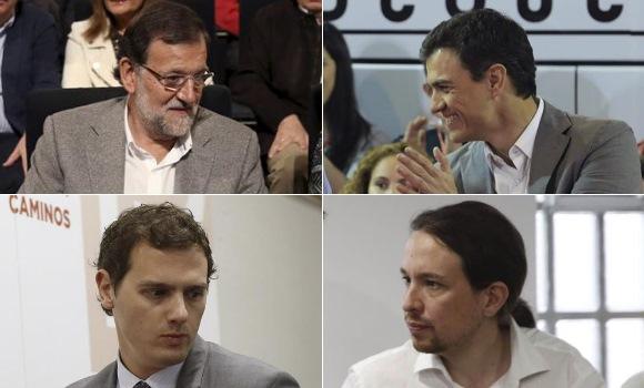 PP y PSOE se recuperan tras el 24M mientras que Podemos cae acechado por Ciudadanos