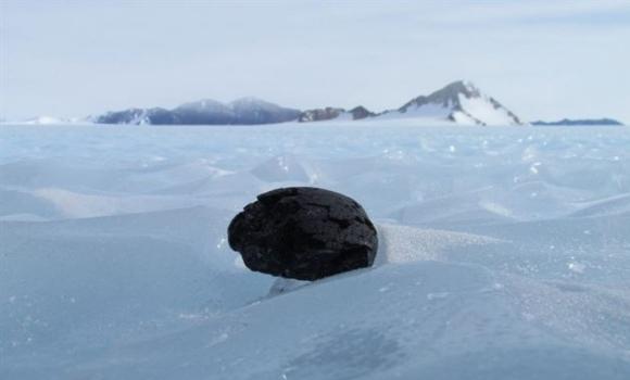 Meteoritos en la Antártida. Imagen: Universidad de Manchester