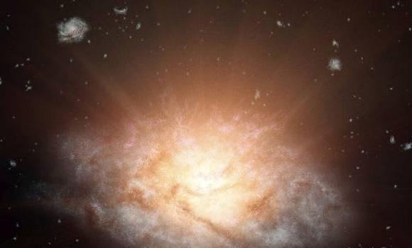Hallan una galaxia que brilla m�s que 300 billones de soles