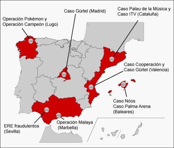 Mapa Corrupcion España 2017.Eeuu Destaca En Un Informe Las Escasas Sentencias