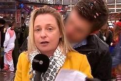 Una reportera acosada en directo