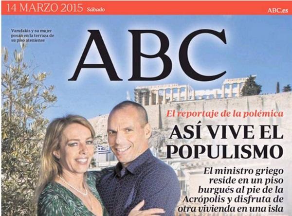 Grandes Crticas A ABC Por Su Portada Sobre Varoufakis