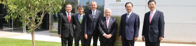 Ficosa y Panasonic oficializan su alianza con la visita a Viladecavalls del presidente de Panasonic