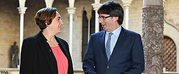 Puigdemont y Colau impulsarán la conexión del tranvía y el Metro hasta Zona Franca