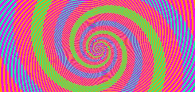 ¿Cuántos colores ves en esta ilusión óptica en espiral?
