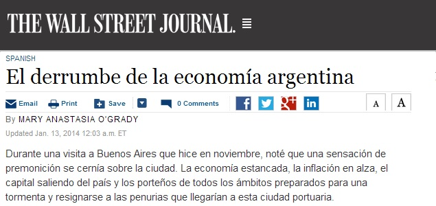The wall street journal habla del derrumbe de la econom a Noticias dela farandula argentina