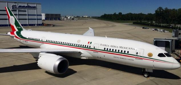 Estrena Peña Nieto el avión presidencial