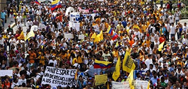 Varios heridos tras la manifestación estudiantil en Caracas contra Maduro