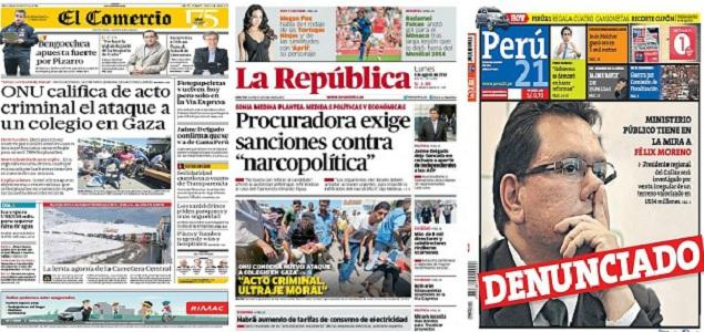 Revista de Prensa de Perú: presidente regional del Callao también investigado por corrupción ...