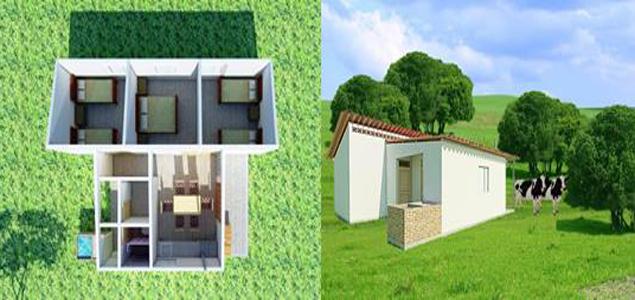 Banco agrario present nuevo modelo de vivienda rural for Modelos de viviendas