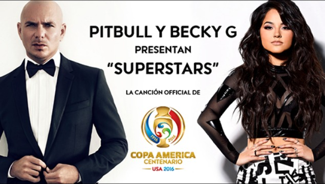Pitbull y Becky G protagonizan la canción oficial — Copa América Centenario
