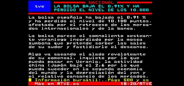 Crónica De Pertenece A Del Un Tve La Teletexto Curiosa Bolsa MLSGVpqUz