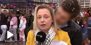 Acosan sexualmente a una reportera en directo