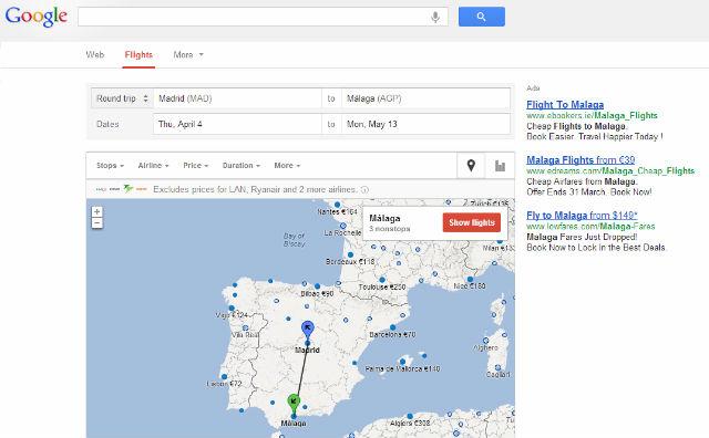 google flights search el buscador de vuelos low cost de