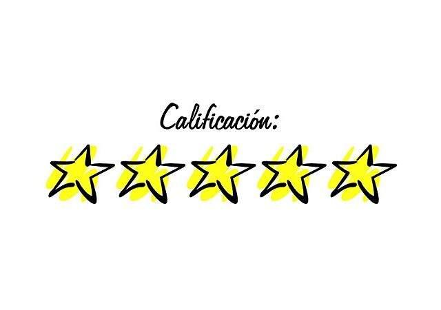 Resultado de imagen para calificacion 5 estrellas