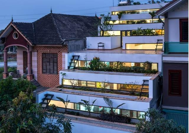 Nueve terrazas escalonadas para la fachada de su casa for Viviendas para terrazas