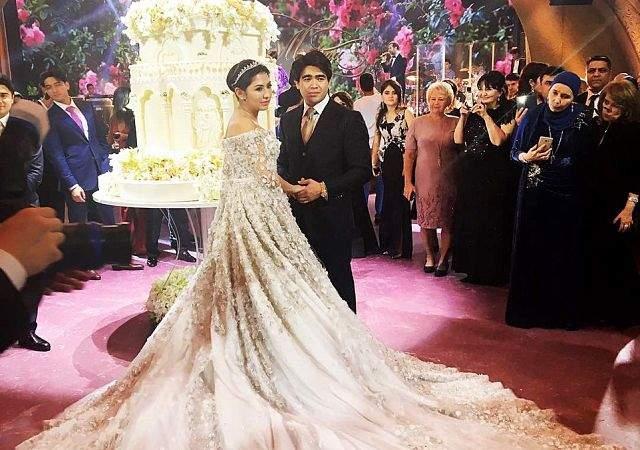 483d5bb014 El vestido de novia de una niña rica rusa  630.000 dólares ...