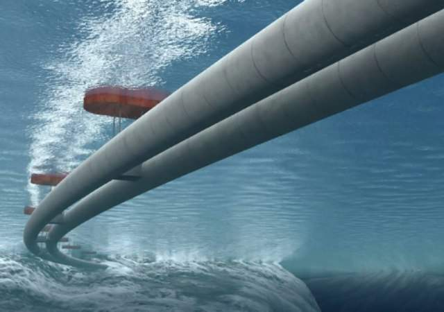 Primer túnel submarino y flotante