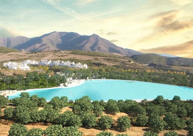 Espectacular laguna en Málaga