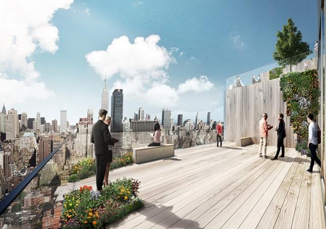 Una Terraza En Espiral Hasta El Cielo Nuevo Rascacielos