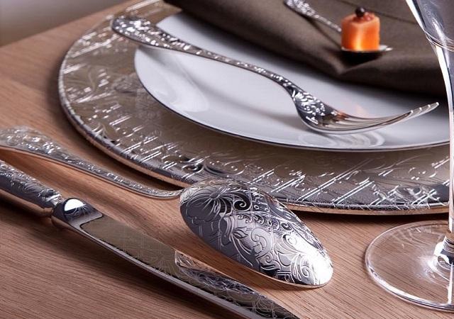 Cuberter as y vajillas de lujo para decorar la mesa - Cuberterias de plata precios ...