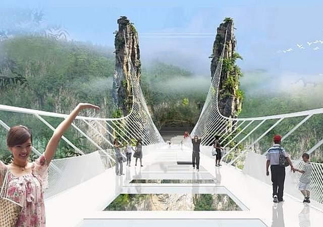 El puente más largo y alto en China - 640x450