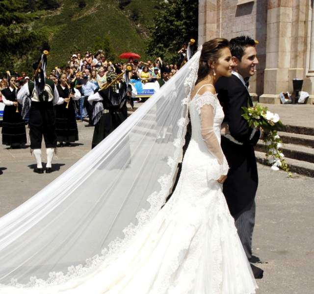 paula echevarría y david bustamante: así fue su boda en covadonga