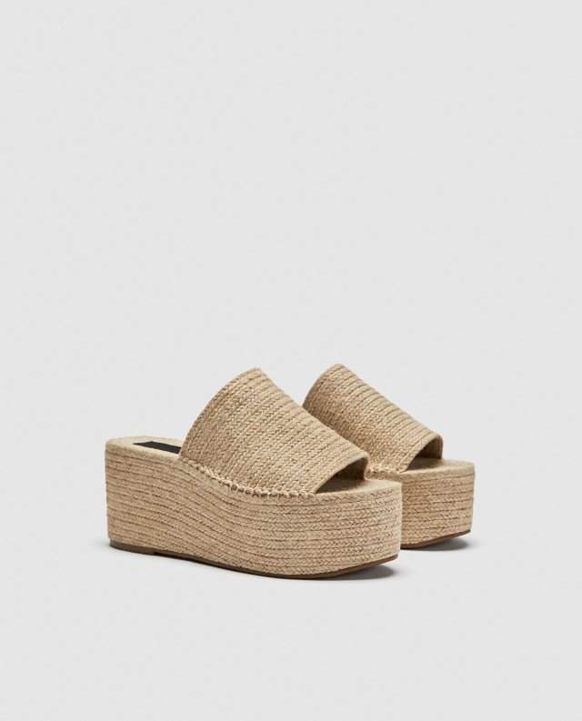 928fa958d65 Por ejemplo esta sandalia de plataforma destalonada color crudo