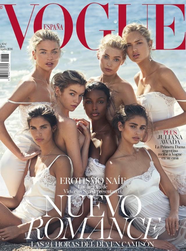 d1bdd5c55bb7c ... Tookes y Sara Sampaio son las destacadas protagonistas del reportaje  fotográfico que les presenta envueltas en vestidos, lencerías y encajes  blancos.