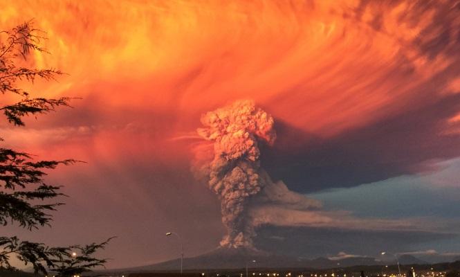 Las imágenes del volcán de Chile - 310x