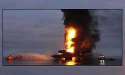 Incendio en una planta de Pemex