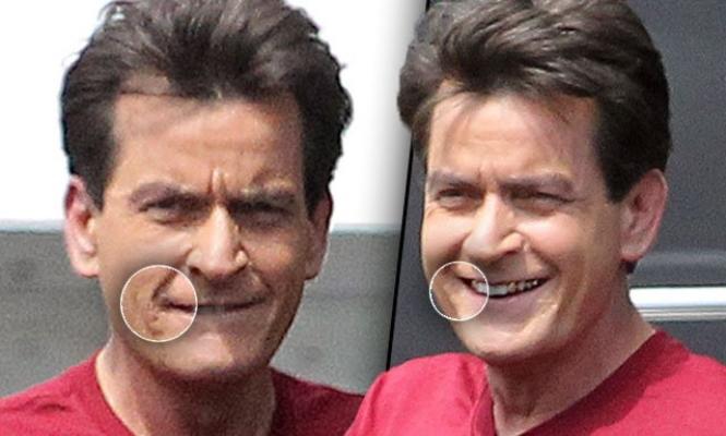 El preocupante aspecto de Charlie Sheen y Johnny Depp