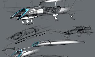 El Hyperloop... ¡es un monorraíl!