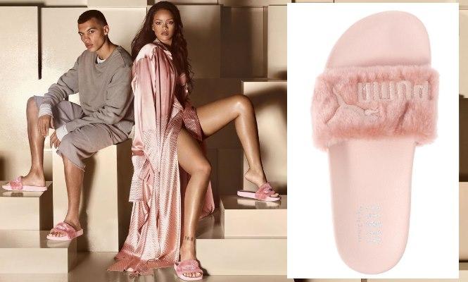 free shipping 305b3 17460 Te atreves con las chanclas de pelo de Rihanna? - Informalia.es