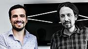 Alberto Garzón y Pablo Iglesias, el pasado junio..jpg