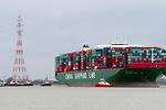 Consiguen liberar al mayor carguero del mundo